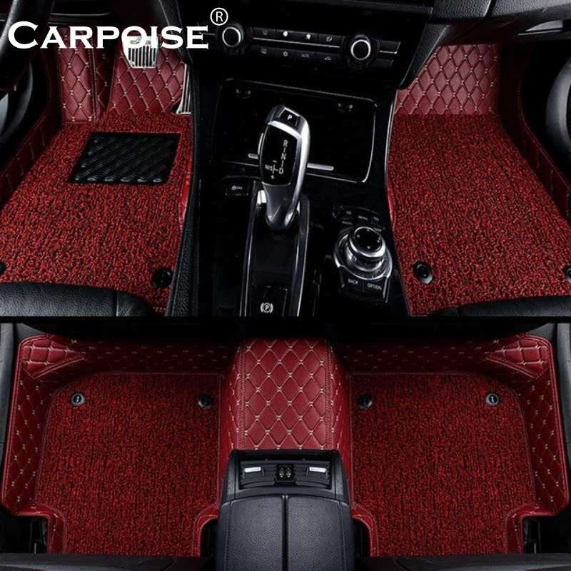 Carpoise Universal Leather Car Floor Mats Styling 2