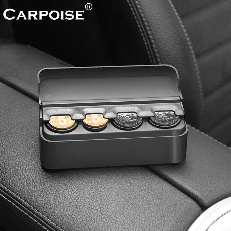 Carpoise Car Coin Storage Box with Lid