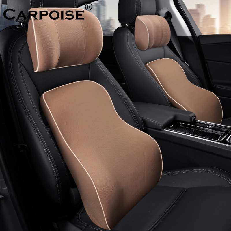 Carpoise Car Seat Lumbar Support Back Neck Support Headrest Cushion Sets – Styling 2