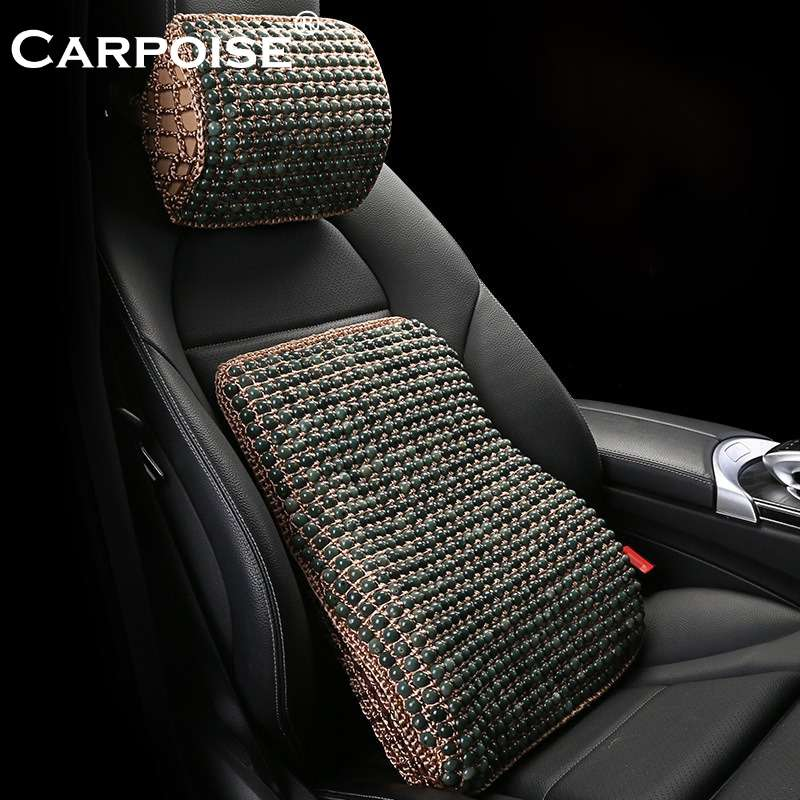 Carpoise Car Seat Lumbar Support Back Neck Support Headrest Cushion Sets Styling 4