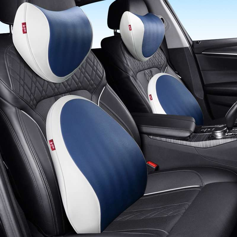 Carpoise Car Seat Lumbar Support Back Neck Support Headrest Cushion Sets Styling 5