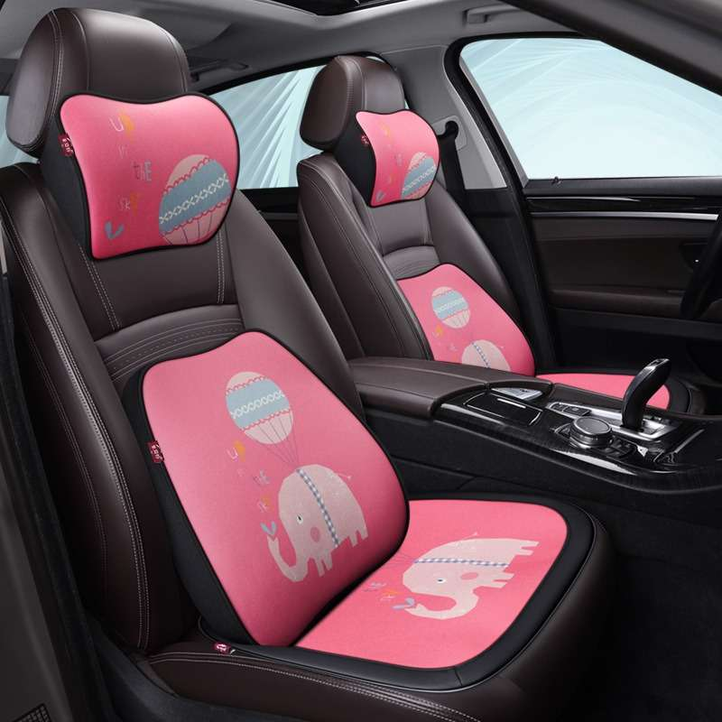 Carpoise Car Seat Lumbar Support Back Neck Support Headrest Cushion Sets Styling 8