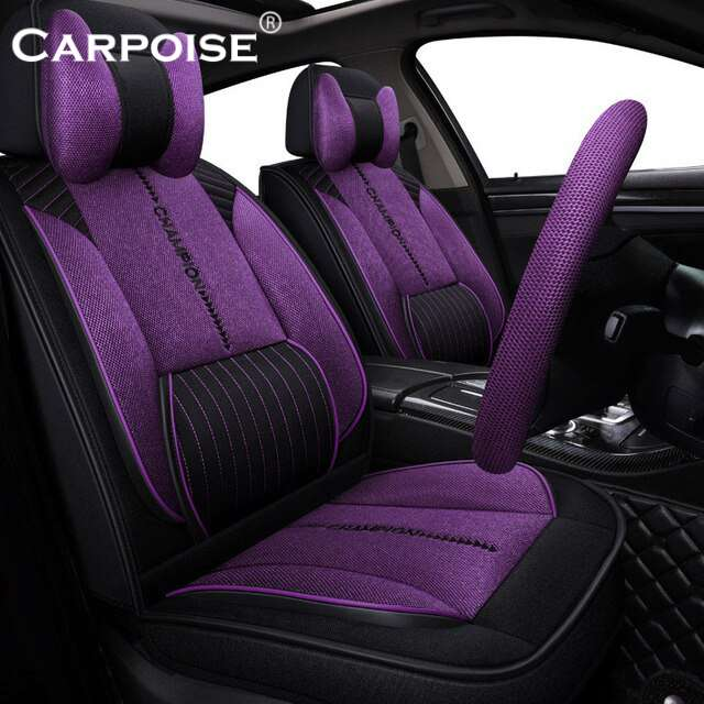 Carpoise High Quality Linen Custom Car Seat Covers – Styling 1