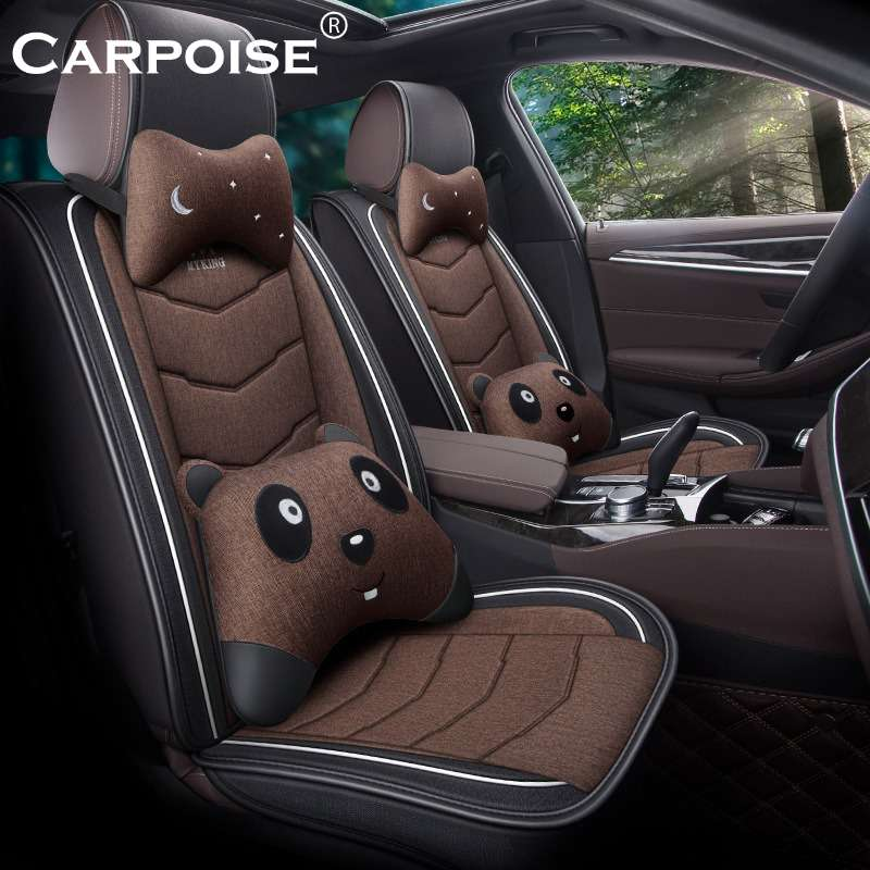 Carpoise High Quality Linen Custom Car Seat Covers – Styling 3