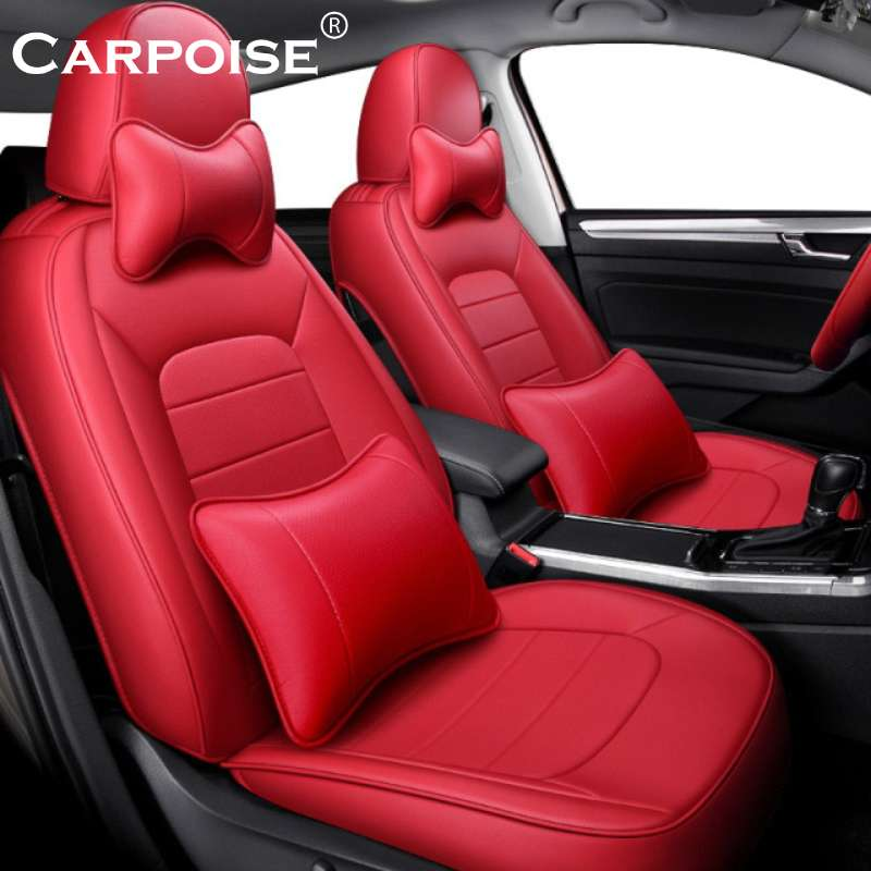 Carpoise PU Leather Car Seat Covers Styling 1