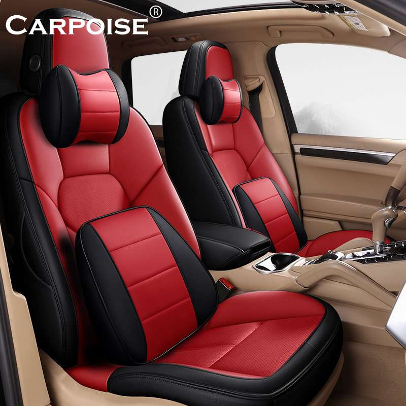 Carpoise PU Leather Car Seat Covers Styling 4