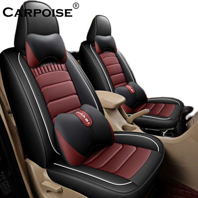 Carpoise PU Leather Car Seat Covers Styling 9