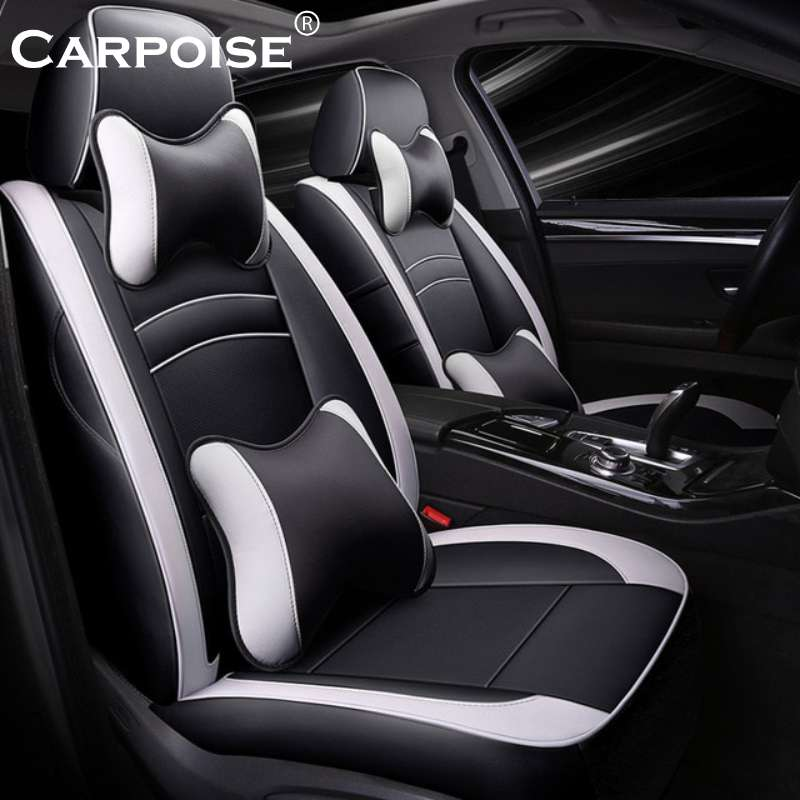 Carpoise Real Leather Car Seat Covers Styling 3