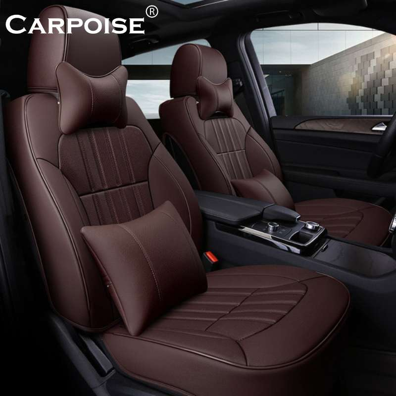 Carpoise Real Leather Car Seat Covers Styling 5