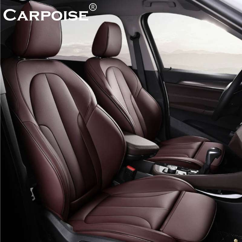Carpoise Real Leather Car Seat Covers Styling 7