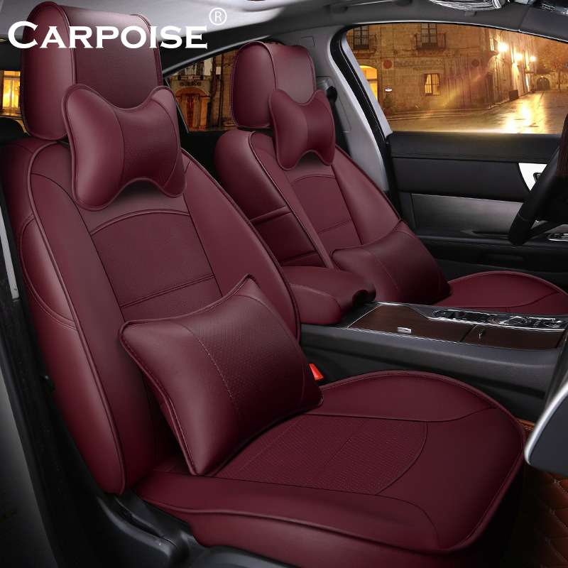 Carpoise Real Leather Car Seat Covers Styling 8
