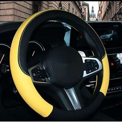 Carpoise Sports Leather Steering Wheel Covers