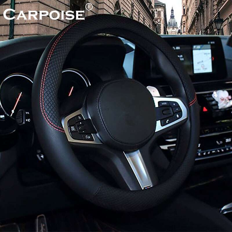 Carpoise Sports Leather Steering Wheel Covers Styling 1