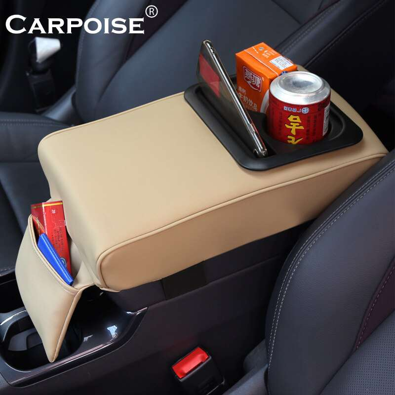 Carpoise Universal Car Armrest Cover Pad With Cup Holder