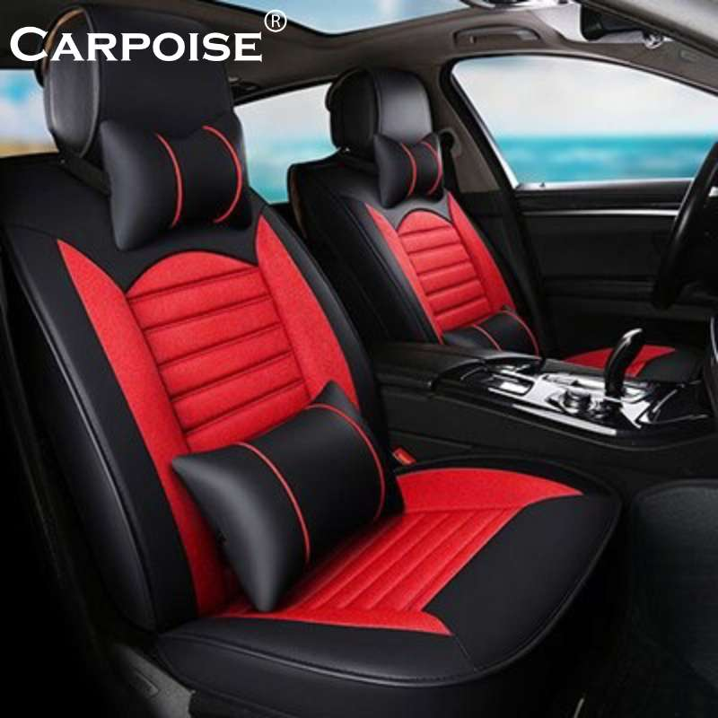 Carpoise Universal High-Quality Linen Car Seat Covers