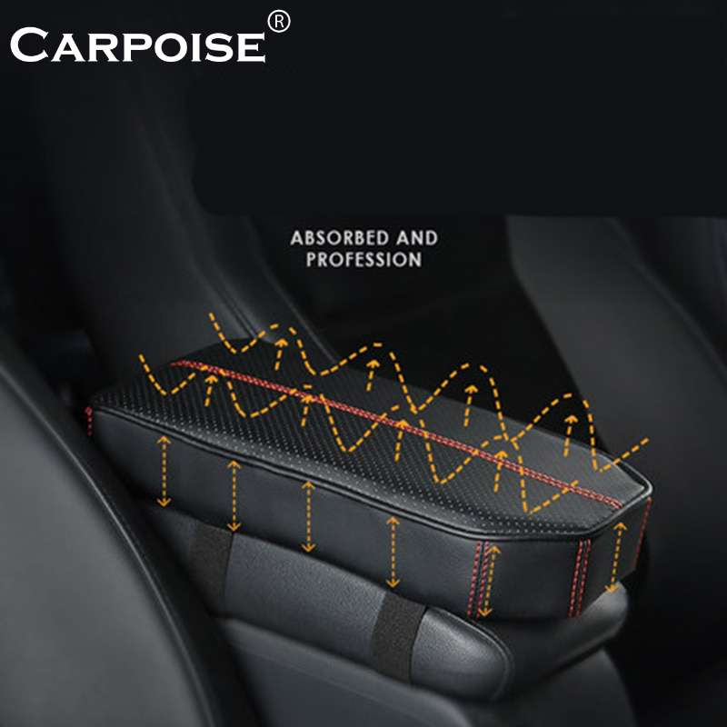 Carpoise Universal Leather Car Armrest Covers Pads Model 3