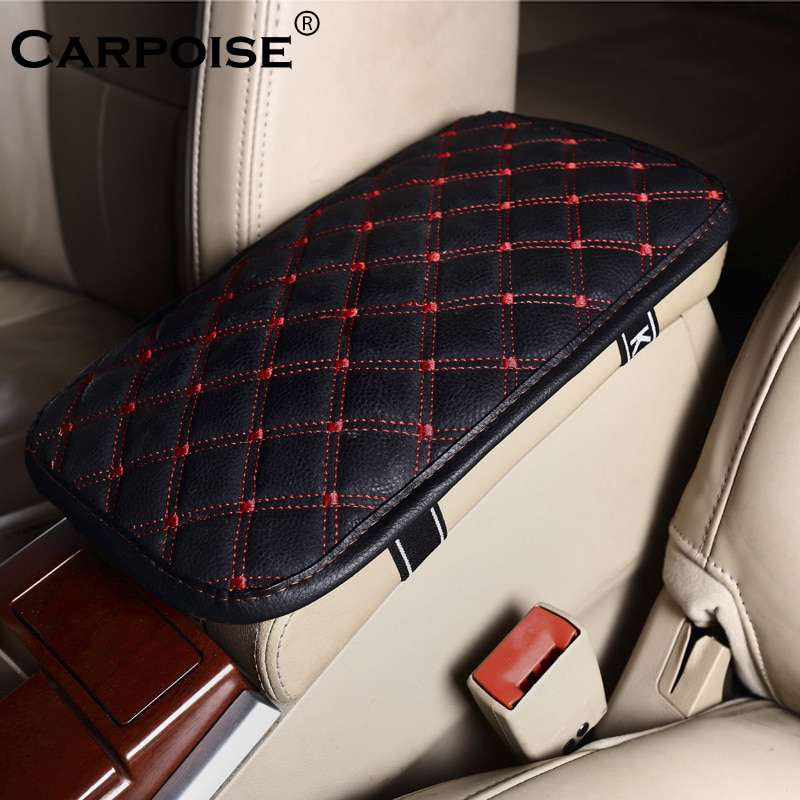 Carpoise Universal Leather Car Armrest Pad Covers