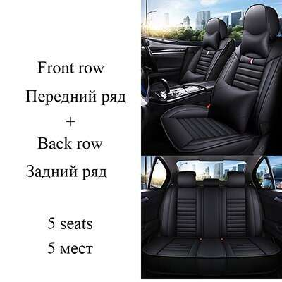 Carpoise Universal Leather Car Seat Covers Styling 9