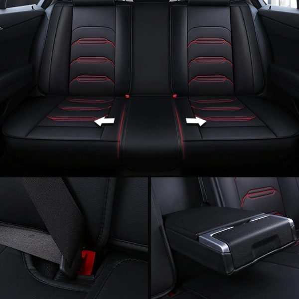 Carpoise Universal Leather Sports Style Car Seat Covers
