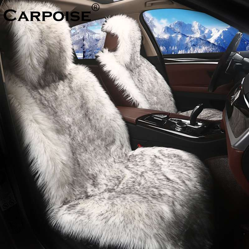 Carpoise Winter Warm Faux Fur Car Seat Covers Style 3
