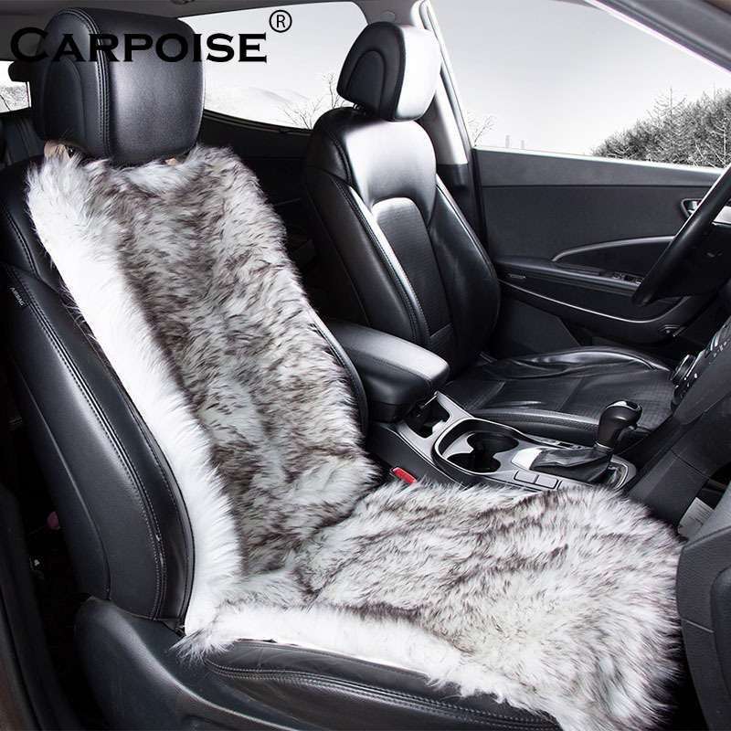 Carpoise Winter Warm Faux Fur Car Seat Covers – Style 1