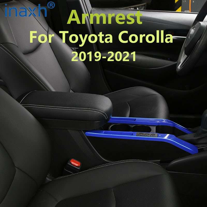 For Toyota Corolla Armrest Protection Pad Cover 2019 2021 For Toyota COROLLA Center Console Armrest Cover