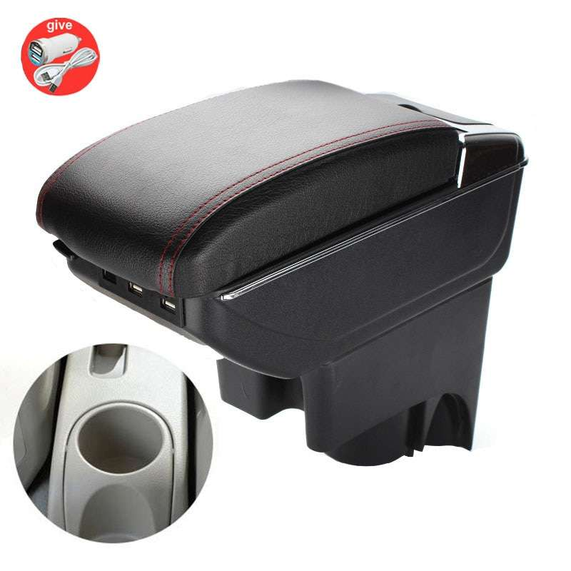 Suitable for Nissan Yewei special armrest box free punch car central storage box portable luggage modification